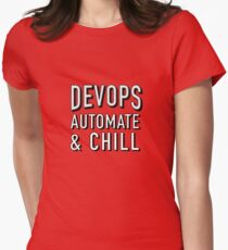 DevOps Automate and Chill Women's Fitted T-Shirt