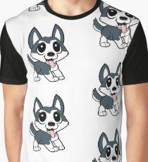pomsky cartoon Graphic T-Shirt