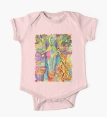 She Rises - Colorful Horse with New Moon One Piece - Short Sleeve