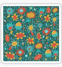 Patchwork Flower Pattern Sticker