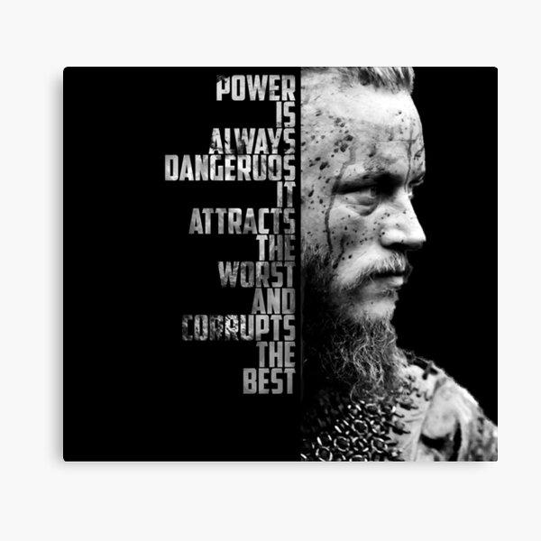 Wikinger - Ragnars Zitat Leinwanddruck