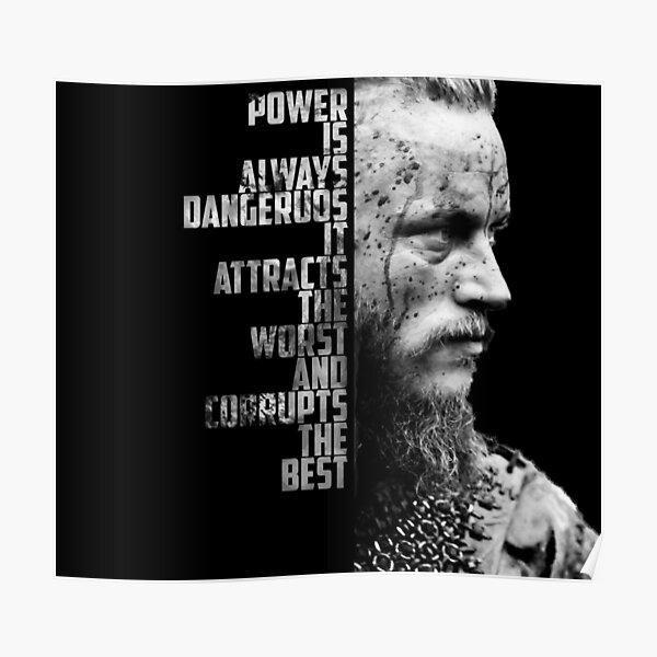 Vikingos - cita de Ragnar Póster