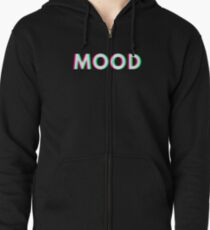 Mood T Shirt Trippy 3D / Anaglyph / Stereoscopic  Zipped Hoodie