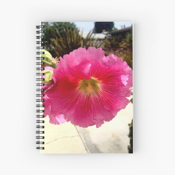 Hollyhock from A Gardener's Notebook Spiral Notebook