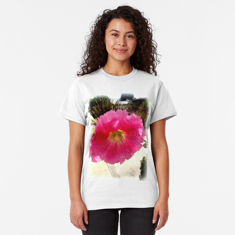 Hollyhock from A Gardener's Notebook Classic T-Shirt