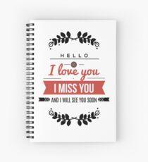 I love you lettering design Spiral Notebook
