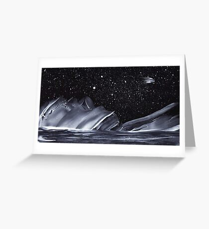 Ice Comet Greeting Card