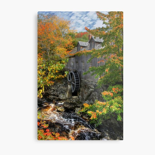 Fall at Sable River Mill Metal Print