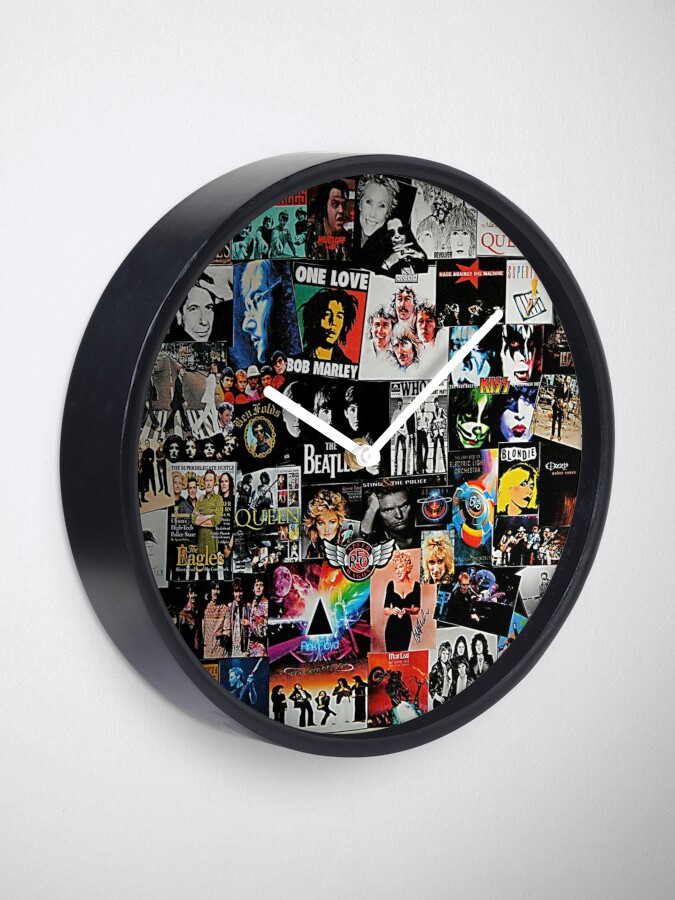 Alternate view of Rock Collage Clock