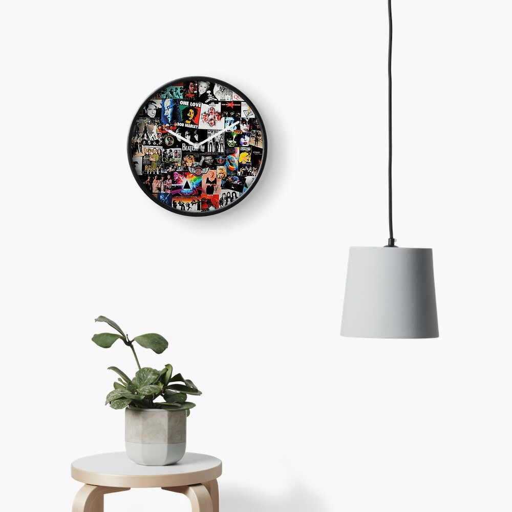 Rock Collage Clock