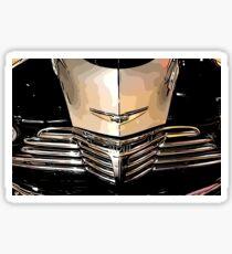 Classic Chrome Car Grill 1940s Sticker