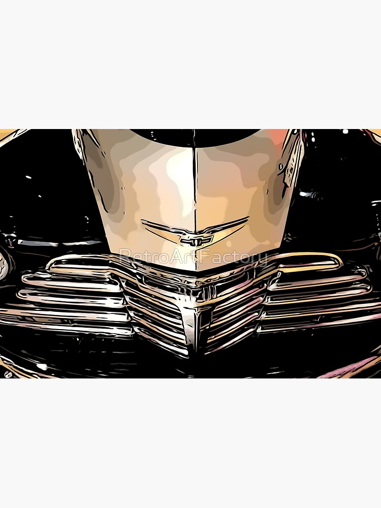 Classic Chrome Car Grill 1940s by RetroArtFactory