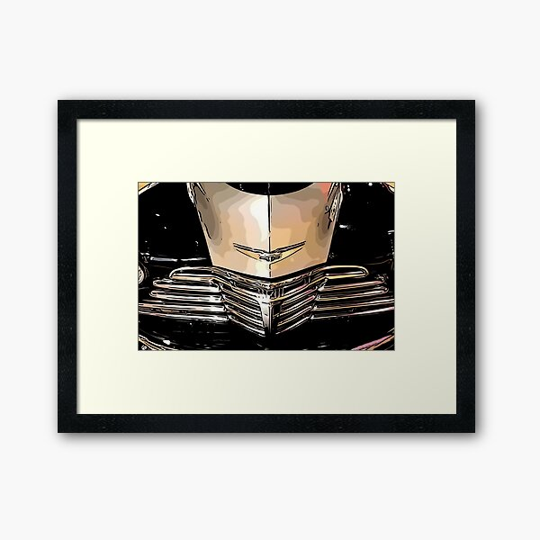 Classic Chrome Car Grill 1940s Framed Art Print