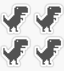Google Chrome T-Rex Sticker Pack - black funny Sticker