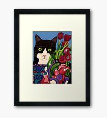 Tullulah and Tulips Framed Print