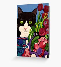 Tullulah and Tulips Greeting Card