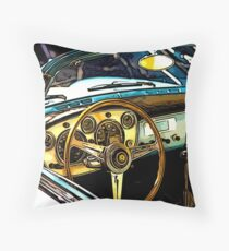 Turquoise Classic 1960's Convertible Throw Pillow