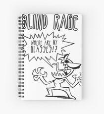 Blind Rage Spiral Notebook