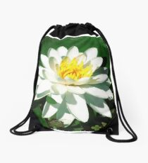 Lily on the Water Drawstring Bag