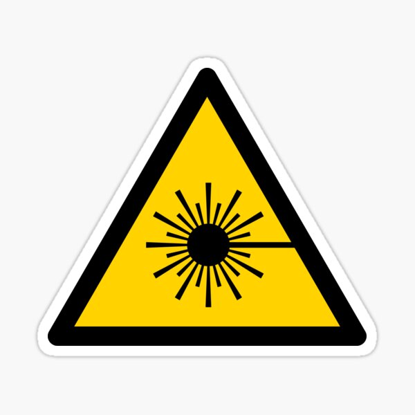 Warning Laser Radiation Sticker