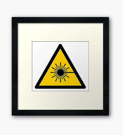 Warning Laser Radiation Framed Print