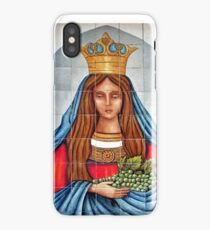 Our Lady of the Grapes Mexican Tile iPhone Case