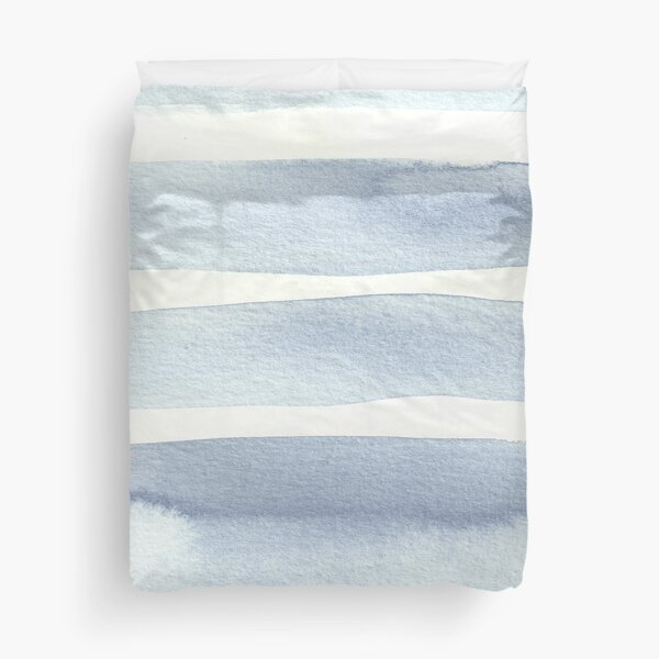 Minimalist Blue Duvet Cover