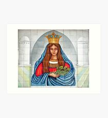 Our Lady of the Grapes Mexican Tile Art Print