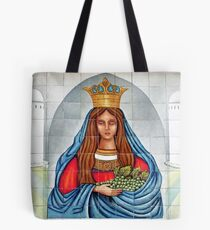 Our Lady of the Grapes Mexican Tile Tote Bag