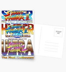 Super Hyper Ultra Street Fighter 2 Postcards