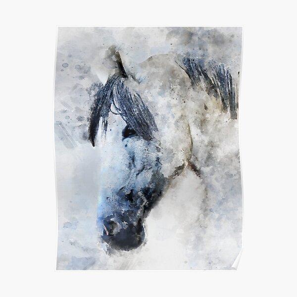 Dramabite Horse watercolor Poster