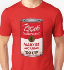 Zizek's Desoupinated Marxist Lacanian Soup Slim Fit T-Shirt