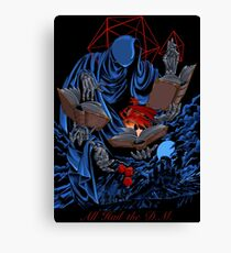 Dungeons, Dice and Dragons  - THE DM Canvas Print