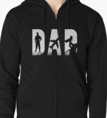 Mens Dad and Pilot Zipped Hoodie