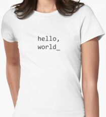 Hello World Font Women's Fitted T-Shirt