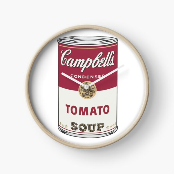 Campbell's soup Clock