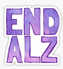 End Alz Sticker