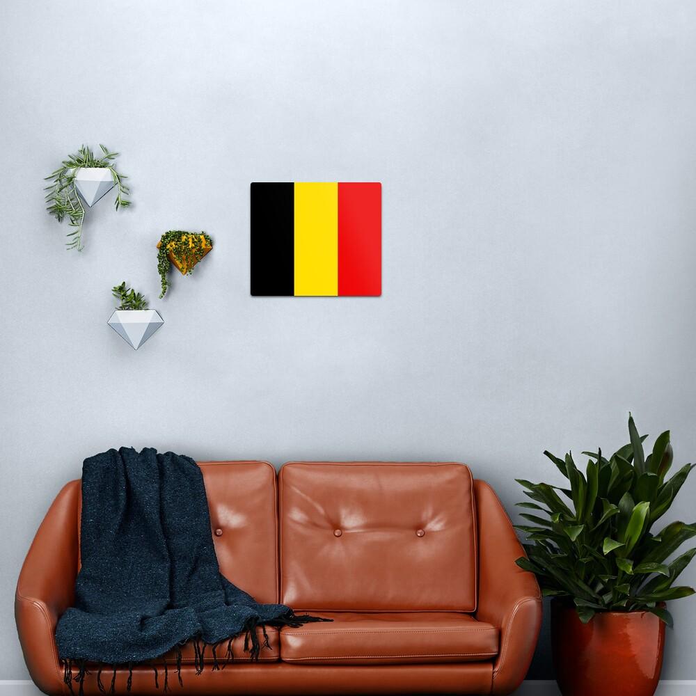 Belgium Flag Metal Print