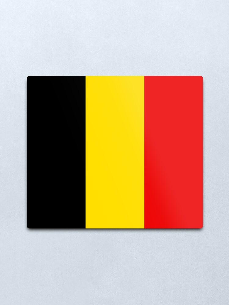 Alternate view of Belgium Flag Metal Print