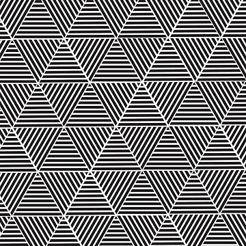 Black and White triangle pattern design by sele504