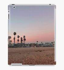 Vintage Palm Trees in the Sunset with Lifeguard Tower iPad Case/Skin