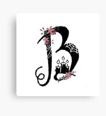 Witchy Letters: B Canvas Print