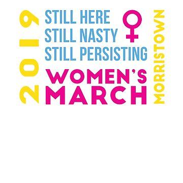 Women's March Morristown New Jersey January 2019 by oddduckshirts