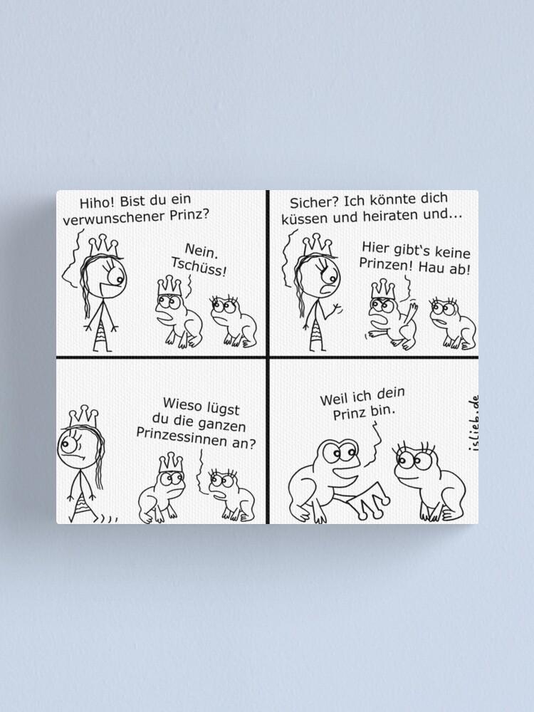 Alternative Ansicht von Prinz islieb Comic Leinwanddruck