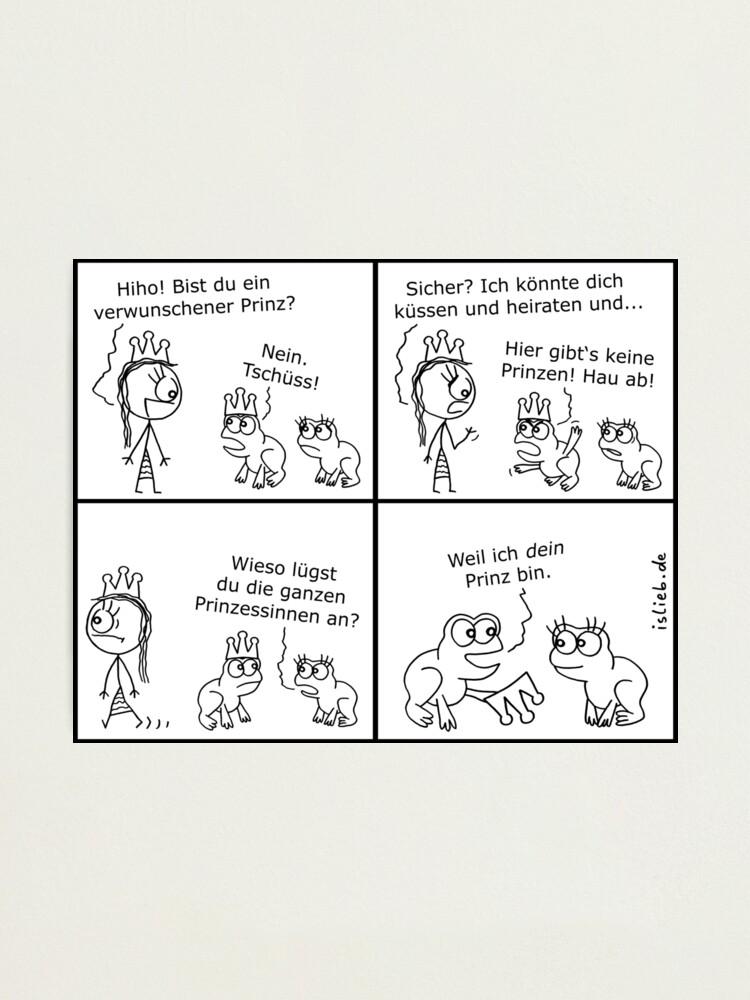 Alternative Ansicht von Prinz islieb Comic Fotodruck