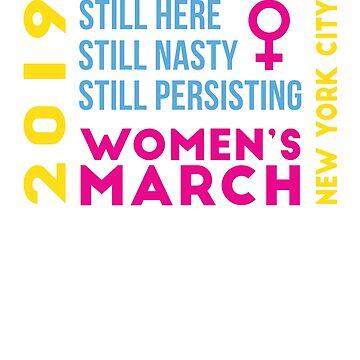 Women's March New York City NYC NY January 2019 by oddduckshirts