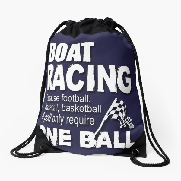 Boat racing and speed on the water fans Drawstring Bag