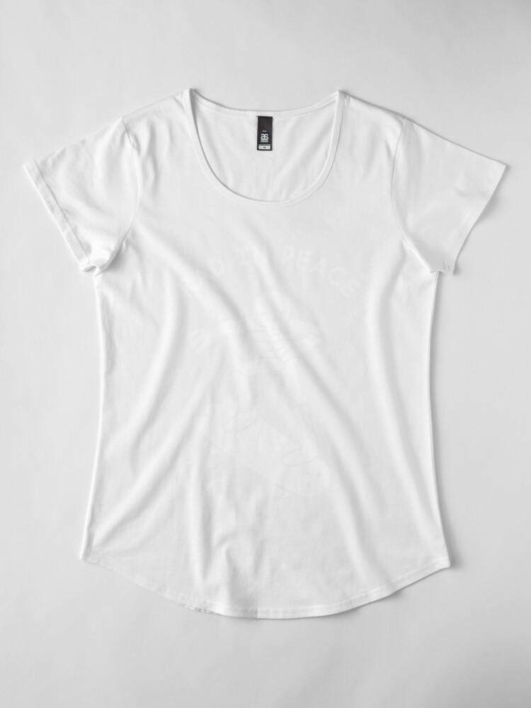 Alternate view of Rad In Peace Premium Scoop T-Shirt