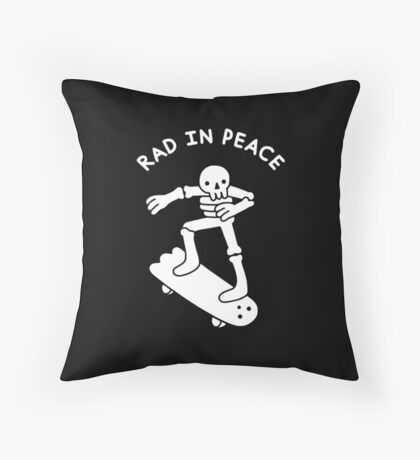Rad In Peace Throw Pillow