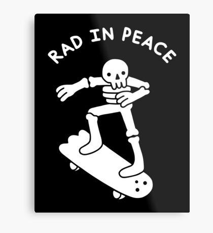 Rad In Peace Metal Print